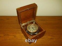 WW II Imperial Japanese Navy CHRONOMETER / SHIP DECK CLOCK VERY RARE