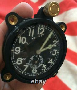 WW2 AIRCRAFT CLOCK IMPERIAL JAPANESE NAVY AIR FORCE Nakata Shoten Reproduction