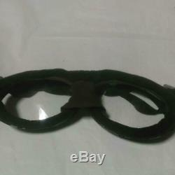 WW2 Former Japanese Imperial Army Navy Squadron Vintage Goggles Glass Lens F/S