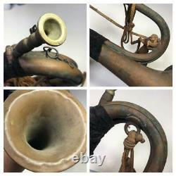 WW2 II Japanese Imperial Military Brass Bugle Trumpet Japan Original