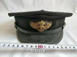 WW2 II Japanese Military Imperial NAVY Soldier's uniform Hat Cap and Box-c1118