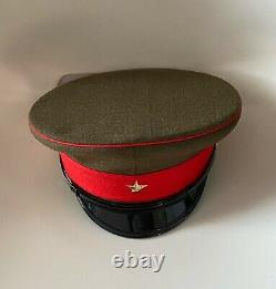 WW2 IJA Imperial Japanese Army Uniform Officer Peaked Visor Hat Cap Headgear 58