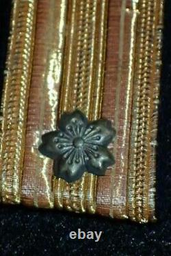 WW2 IJN Imperial Japanese Navy Rear Admiral Collar Rank Insignia Tab Pair RARE