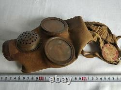WW2 IMPERIAL JAPANESE ARMY SOLDIER and civilian Original Gas Mask and Tank-d0823
