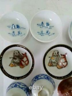 WW2 Imperial Japanese Army 14 sake cups sakazuki Military Antique Free/Ship