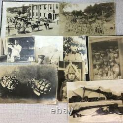 WW2 Imperial Japanese Army 77th Division Photo 26 sheets Military machine gun