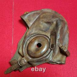 WW2 Imperial Japanese Army Air Corps flight cap Leather military uniform navy
