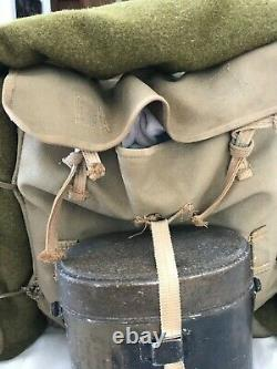 WW2 Imperial Japanese Army BackPack with Mess Kit