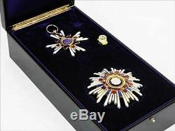 WW2 Imperial Japanese Army First Class Order of the Sacred Treasure Medal S/F JP