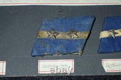 WW2 Imperial Japanese Army IJA Rank Collar Tab Display Various & Original Rare