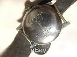 WW2 Imperial Japanese Army Leather Military Watch For Soldiers In China Incidet