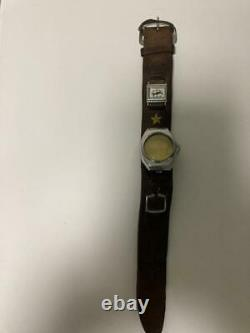 WW2 Imperial Japanese Army Leather wristband watch belt with compass Military