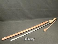 WW2 Imperial Japanese Army Officer Shin Gunto Samurai Sword 27 3/4 Gendai Fine