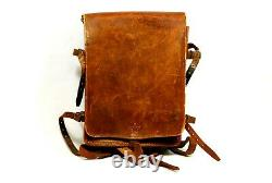 WW2 Imperial Japanese Army Officers Leather Backpack Bag with Star 30x 24cm
