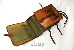 WW2 Imperial Japanese Army Officers Leather Backpack Bag with Star Named 29x24cm