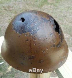 WW2 Imperial Japanese Army Original Type 90 Bring Back Helmet