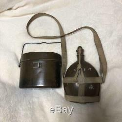 WW2 Imperial Japanese Army Rice cooker and water bottle Military Antique F/S