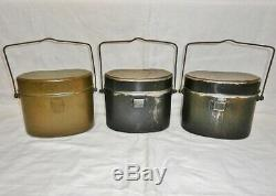 WW2 Imperial Japanese Army Rice cooker set of three Military Antique Free/Ship