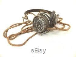 WW2 Imperial Japanese Army headphone Very Rare! Military Antique Free/Ship