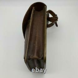 WW2 Imperial Japanese Army leather bag small figure sac Military Free/Ship