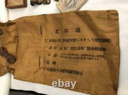 WW2 Imperial Japanese Army medal military bag etc. Set Military F/S