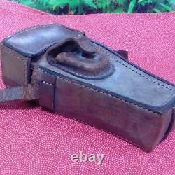 WW2 Imperial Japanese Army thick leather case Military Antique Free/Ship