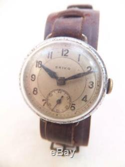 WW2 Imperial Japanese Army watch Leather Battle of Okinawa Vintage Rare