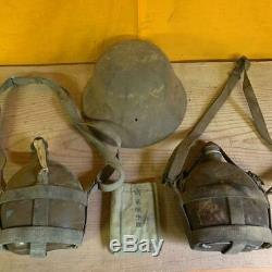 WW2 Imperial Japanese Army water bottle iron helmet real military Free/Ship