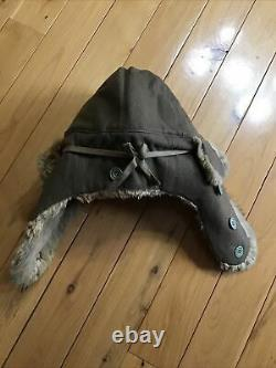 WW2 Imperial Japanese Cold Weather Fur Hat (named)