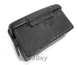 WW2 Imperial Japanese Naval Land Forces Ammo Pouch with Navy Stamp Rare Item S/F
