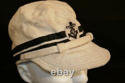 WW2 Imperial Japanese Navy IJN Chief Petty Officer Summer Service Cap Hat Orig