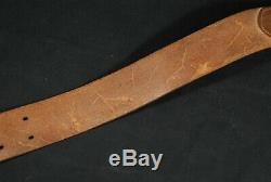 WW2 Imperial Japanese Navy Leather Belt for Landing Trooper IJN Named 107.5cm