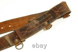 WW2 Imperial Japanese Navy Naval Land Forces Leather Belt Kaigun-rikusen-tai