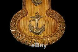 WW2 Imperial Japanese Navy Rank Officers Shoulder Straps Epaulet Signed Original