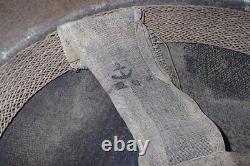 WW2 Imperial Japanese Navy Shipyard Helmet'IJN HARUNA' Kure Naval Base RARE