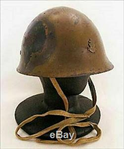 WW2 Imperial Japanese Navy Type 90 Combat Iron Helmet With Liner & Engraved Mark