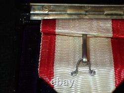 WW2 Imperial Japanese Order of The Rising Sun 6th Class Medal, Ribbon, Rosette