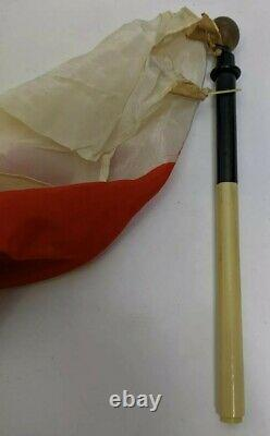WW2 JAPANESE SILK SURRENDER FLAG TELESCOPIC POLE Pilot Signal IMPERIAL Bail Out