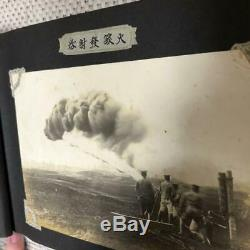WW2 Japanese Army Photo Album antique imperial 38 pictures Book WWII F/S