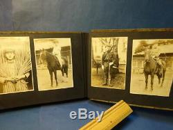 WW2 Japanese Army Photo Album antique imperial picture Book WWII F/S