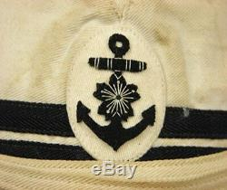 WW2 Japanese Imperial Navy Officer Type 2 Garrison Hat 21.65inch with Insignia
