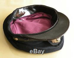 WW2 Japanese Imperial Navy Officer Visor Hat Named (Original)