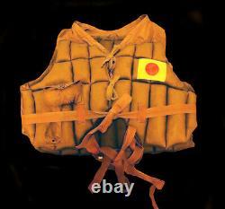 WW2 Japanese Imperial Navy Pilot Captain Isamu Hosono Vest Lifejacket Kamikaze