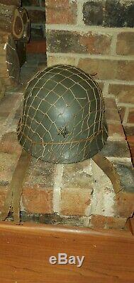 WW2 WWII IMPERIAL JAPANESE ARMY HELMET JAPAN COLLECTIBLE ANTIQUE with NET