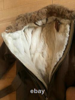 WW2 WWII Imperial Japanese Winter Flight Suit Rabbit Fur Lining Original