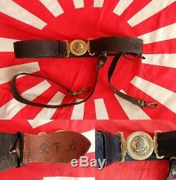 WW2 World War 2 Japan IJN Imperial Japanese Navy Officer Sword Katana Belt name