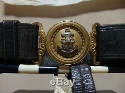 WW2 World War 2 Japan Imperial Japanese Navy Sword Katana Belt withHISTORY, NAME