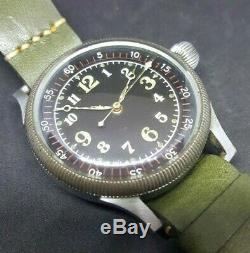 WWII 40s Seikosha Royal Japanese Air-Force Kamakazi Big Pilot Watch 48mm