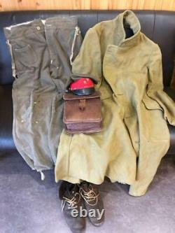 WWII Imperial Japanese Army Military uniform set coat, cargo pants, boots, hat