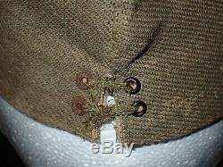 WWII Imperial Japanese Army Summer Field Cap Hat NCO with Tag Rare Material VG+
